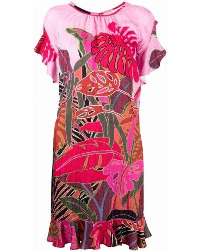 Платье мини с вырезом - розовое Talbot Runhof