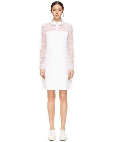 Кружевное платье мини - белое Carven