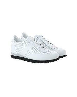 Белые кожаные кроссовки Pellettieri Di  Parma