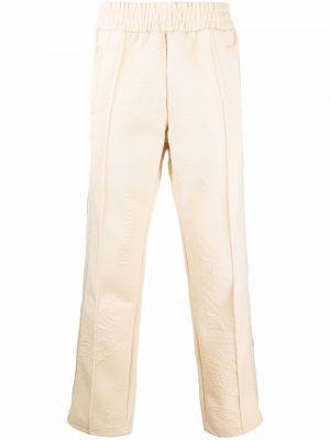 Spodnie z printem - beżowe Palm Angels