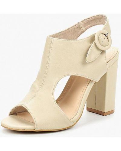 Бежевые босоножки на каблуке Sweet Shoes
