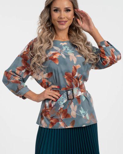 Повседневная с рукавами блузка с вырезом Wisell