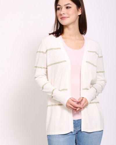 Белый пиджак с воротником с запахом Pezzo
