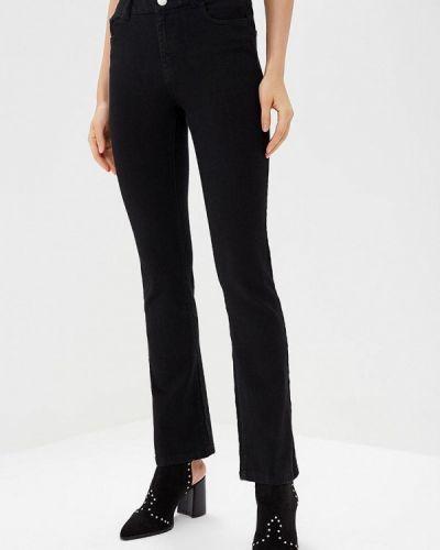 Широкие джинсы расклешенные черные Dorothy Perkins