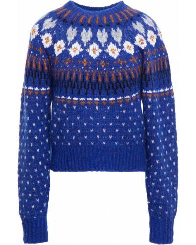 Sweter wełniany - niebieski Rag & Bone