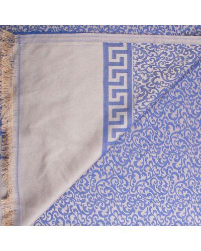Синий шелковый шарф Eterno