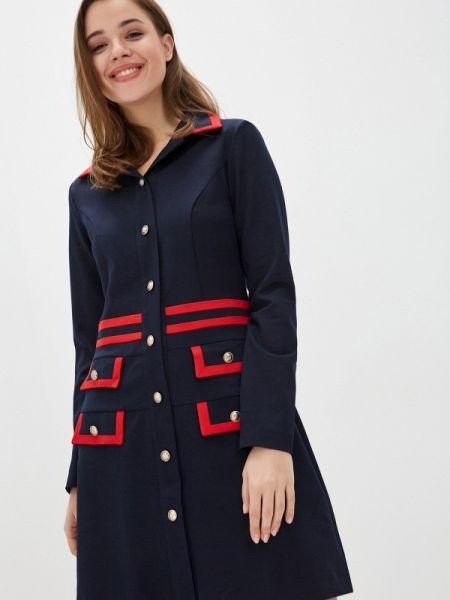 Платье - синее Avemod