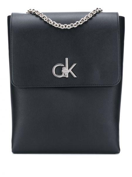 Czarny łańcuszek srebrny Calvin Klein