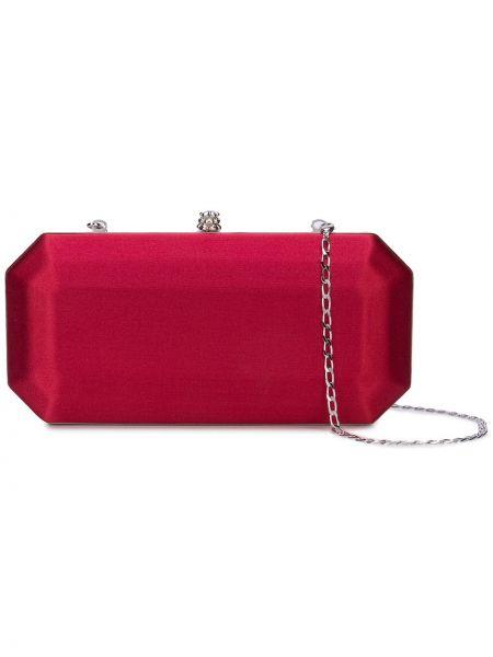 Кожаная красная сумка на цепочке Tyler Ellis