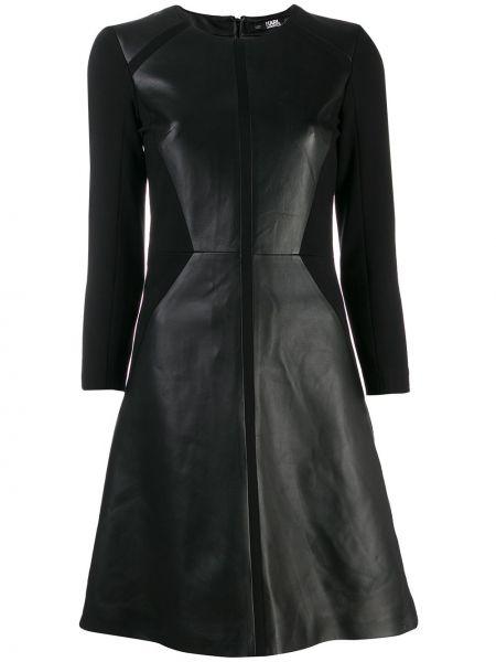 Платье со вставками на молнии Karl Lagerfeld