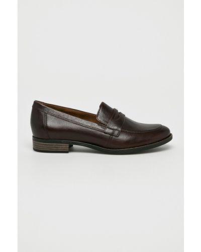 Коричневые кожаные туфли Tamaris