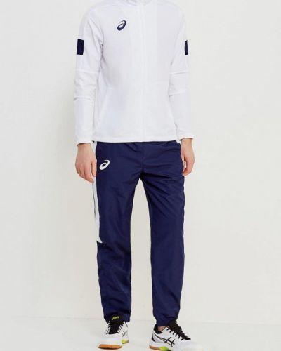 Спортивный костюм белый синий Asics