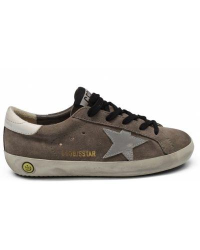 Szare sneakersy skorzane Golden Goose