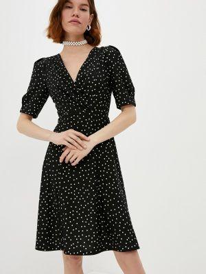 Черное платье с запахом Dkny