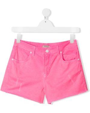 Dżinsowe szorty z kieszeniami różowy Pinko Kids