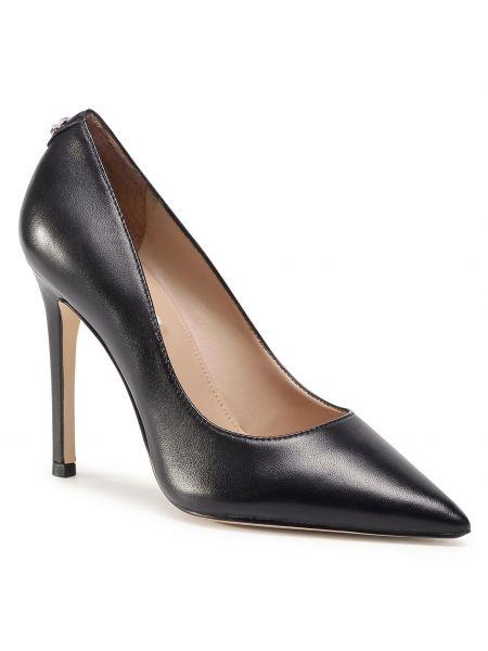 Czarny szpilki buty na obcasie Guess