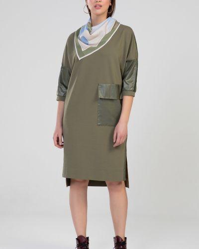 Шифоновое платье - зеленое прима линия