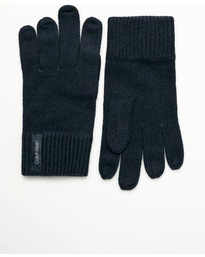 Rękawiczki wełniany czerwony Calvin Klein