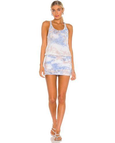 Платье макси длинное - синее Michael Stars