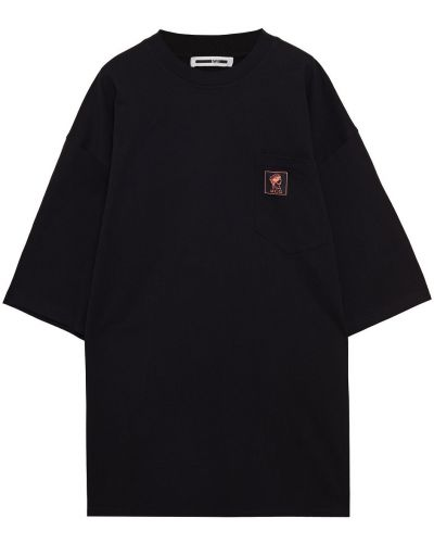 Czarna koszulka bawełniana Mcq Alexander Mcqueen
