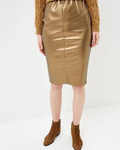 Кожаная юбка золотой Eliseeva Olesya
