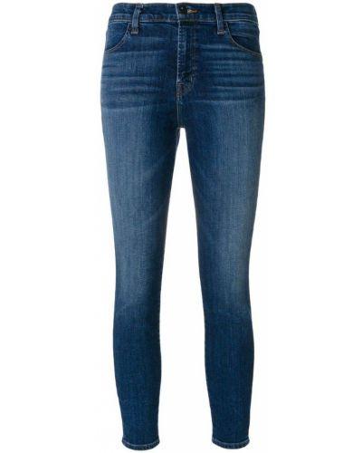 Синие укороченные джинсы J Brand