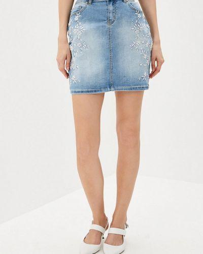Джинсовая юбка - голубая Camomilla Italia