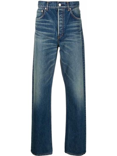 Niebieskie jeansy bawełniane z paskiem Ambush