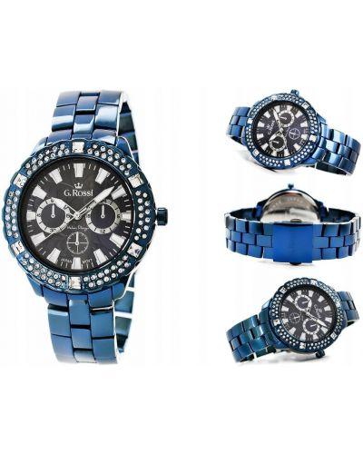 Czarny zegarek z dżetów Gino Rossi