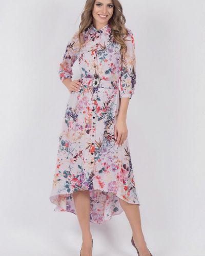 Платье миди розовое оливковый Olivegrey