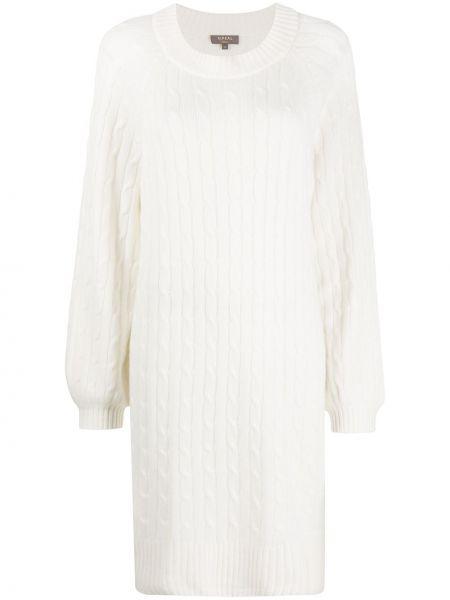 Кашемировое платье с рукавами в рубчик с длинными рукавами с вырезом N.peal