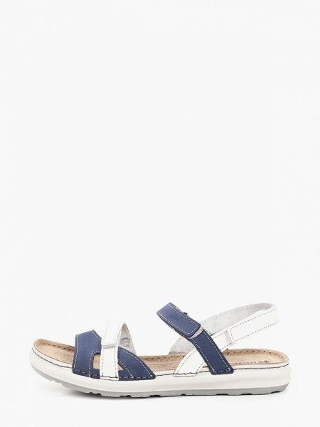 Синие кожаные сандалии Inblu