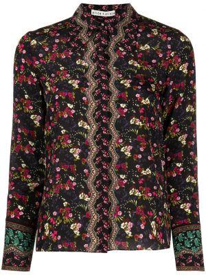Шелковая блузка - черная Alice+olivia