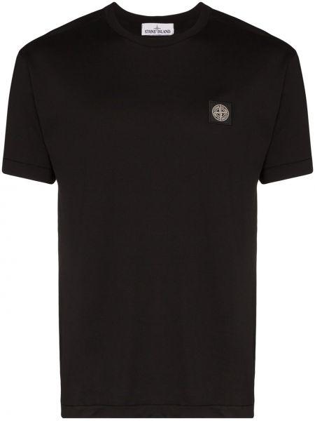 Хлопковая футболка - черная Stone Island
