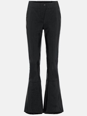 Czarne spodnie rozkloszowane Fusalp