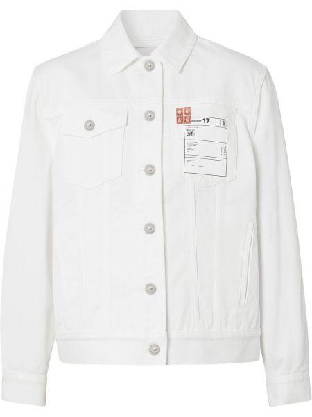 С рукавами белая джинсовая куртка с воротником Burberry