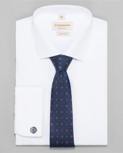 Классическая рубашка с длинным рукавом с манжетами под запонки Henderson