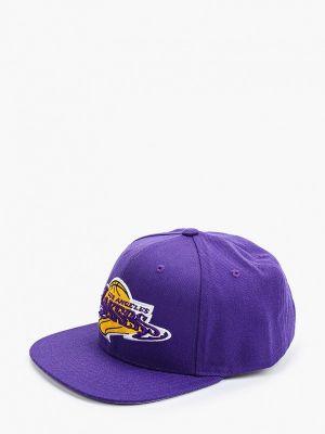 Фиолетовая зимняя бейсболка Mitchell & Ness