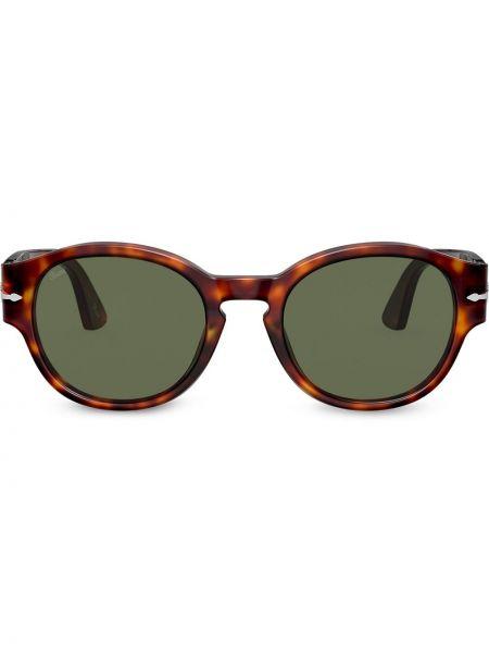 Муслиновые солнцезащитные очки круглые хаки Persol