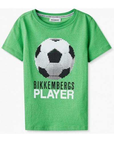 Зеленая футболка с короткими рукавами Bikkembergs