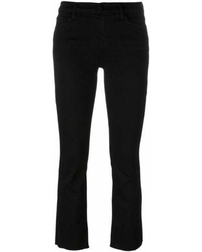 Расклешенные джинсы укороченные черные J Brand