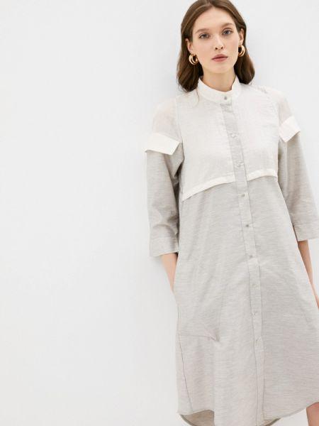 Серое платье Adzhedo
