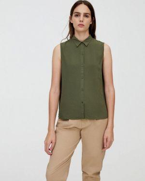 Блузка без рукавов зеленый Pull&bear