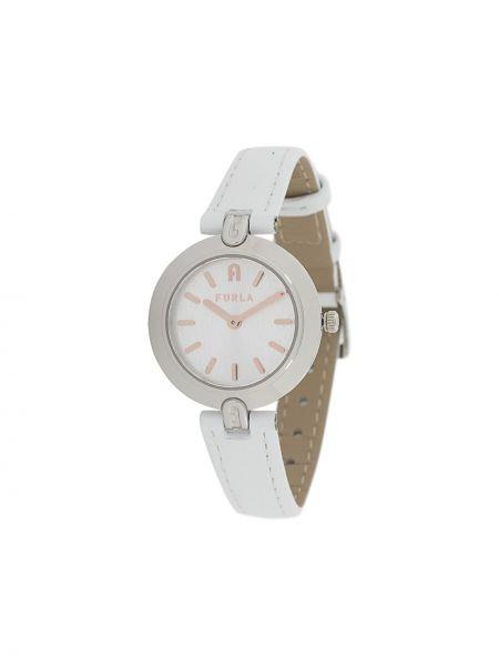 Szary złoty zegarek na skórzanym pasku Furla