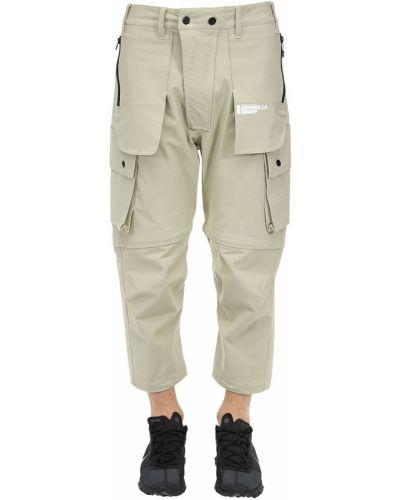 Spodnie khaki bawełniane z paskiem Guerrilla Group