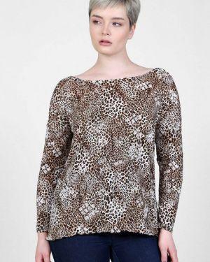 Блузка с леопардовым принтом бежевый инсантрик