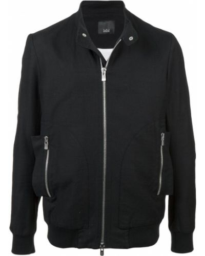 Черная облегченная куртка с манжетами Thamanyah