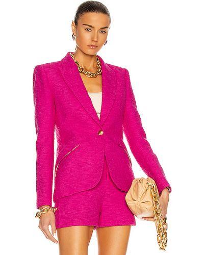 Розовый классический пиджак с карманами на пуговицах L'agence