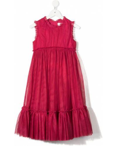 Różowa sukienka bez rękawów bawełniana Charabia