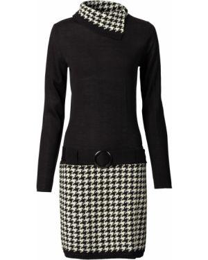 Облегающее платье с заниженной талией вязаное Bonprix